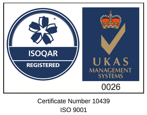 Logo ISOQAR ISO9001 certificate number 2017